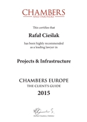 CHAMBERS EUROPE THE CLIENT'S GUIDE 2015